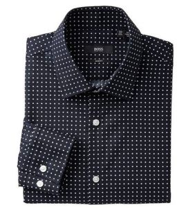 The Style Guys Calgary Fashion Blog Hugo Boss Polka Dot Shirt