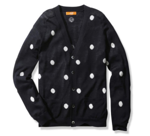 Calgary Fashion Blog The Style Guys, Polka dot cardigan
