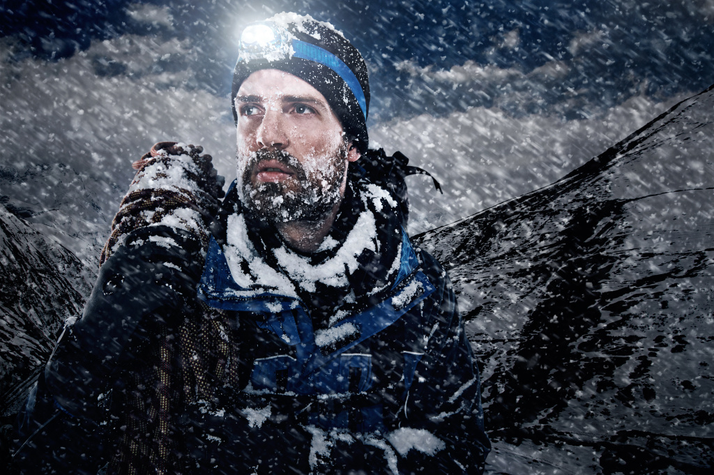 Adventure mountain man