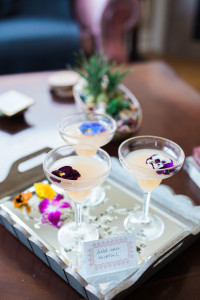 Feature drinks with edible flowers, come on!