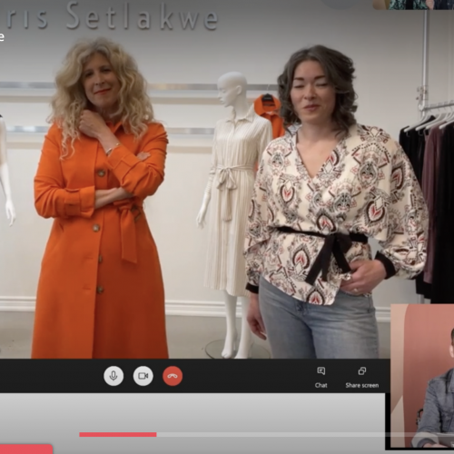 Live Shopping with Montreal's Iris Setlakwe